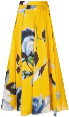 Carolina Herrera floral print A-line skirt
