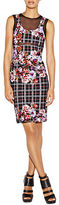 Nicole Miller Floral Plaid Alternative Powernet Dress