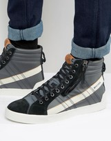 Diesel D-string Leather Trainers