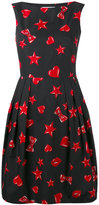 Moschino heart and star print dress - women - Silk/Cotton/Viscose - 40