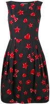 Moschino heart and star print dress