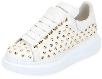 Alexander McQueen Studded Lace-Up Platform Sneaker