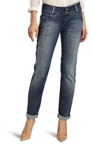 Democracy Women's Patriot Straight Rolled Cuff Jean With Framed Wash