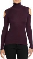T Tahari Flynn Cold Shoulder Turtleneck Sweater