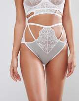 Asos BRIDAL Kitty Lace Detail High Waist Pant