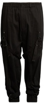 Yohji Yamamoto Leg-harness Tapered-leg Wool-drill Trousers