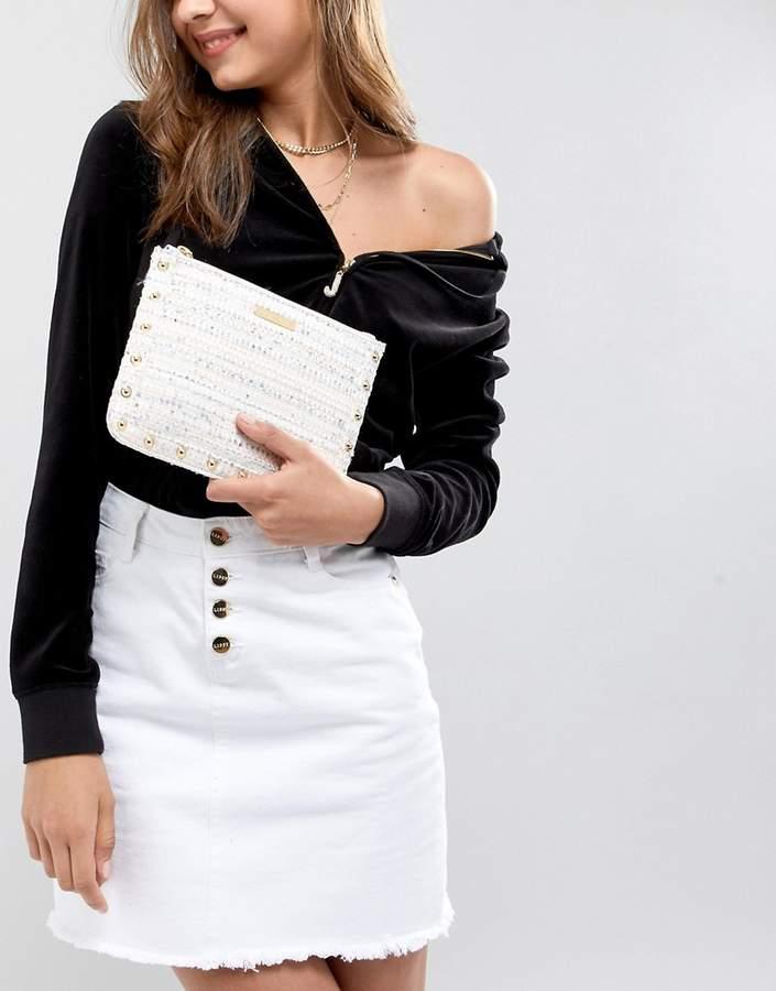 Juicy Couture Tweed Zip Top Pouch