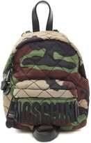 Moschino Camu-print Quilted-sheel Mini Backpack