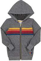 Aviator Nation Kids' Rainbow-Striped Cotton-Blend Hoodie