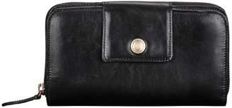 Maxwell Scott Bags Maxwell Scott Womens Premium Leather Zip Purse - Giorgia Black
