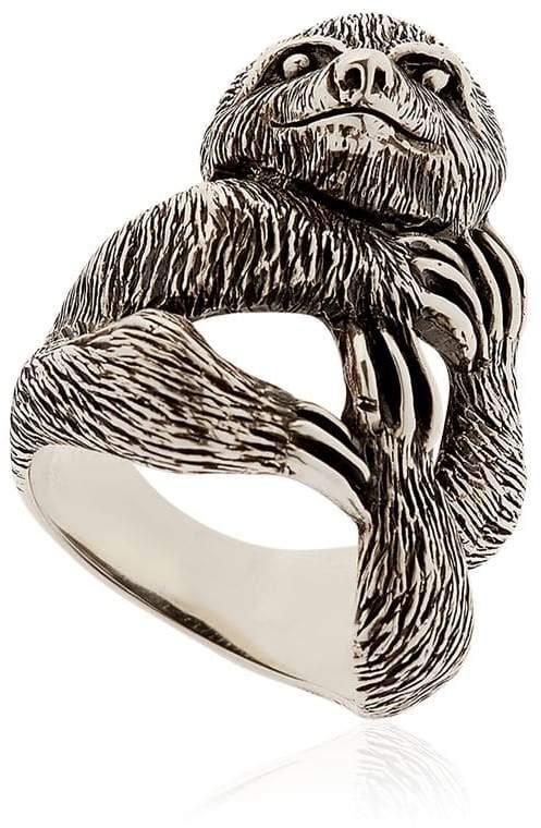 Manuel Bozzi Sloth Sterling Silver Ring