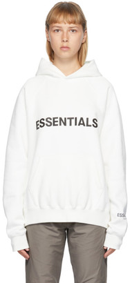 Essentials White Pullover Hoodie