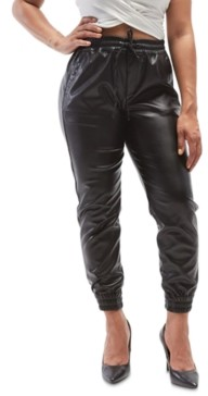 Dollhouse Juniors' Faux-Leather Jogger Pants