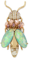 Betsey Johnson Gold-Tone Multi-Crystal Insect Pin