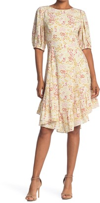 19 Cooper Floral Ruffle Hem Dress