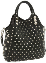 Studded Convertible Shoulder Tote