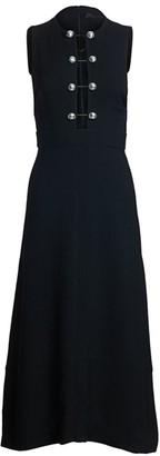 Proenza Schouler Sleeveless Barbell Front Crepe Midi Dress