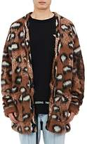 Off-White Men's Leopard-Pattern Wool-Blend Cardigan