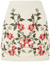 Topshop PETITE Ivy Embroidered Skirt