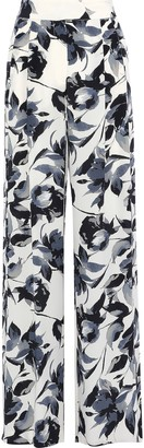 Mason by Michelle Mason Pleated Printed Silk Crepe De Chine Wide-leg Pants