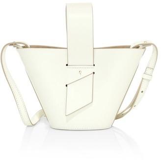Carolina Santo Domingo Mini Amphora Leather Bucket Bag