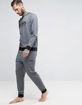 HUGO BOSS BOSS By Logo Cuffed Joggers In Regular Fit Gray