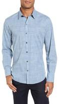 Zachary Prell Men's Clark Slim Fit Plaid Sport Shirt