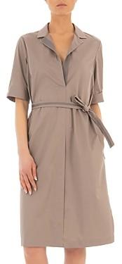 Peserico Short-Sleeve Belted Dress