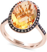 Effy Final Call by Citrine (6-7/8 ct. t.w.) & Diamond (1/4 ct. t.w.) Ring in 14k Rose Gold