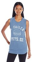Junk Food Clothing Women's Vintage I Failed Phys. Ed Raglan Graphic Tank