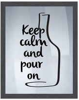 "PTM Images Keep Calm Framed Silkscreen Wall Art - 16.75"" x 20.75"""