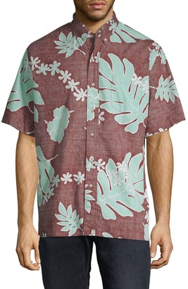 Reyn Spooner Old School Cotton Button-Down Shirt