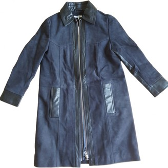 Ganni Navy Suede Coats