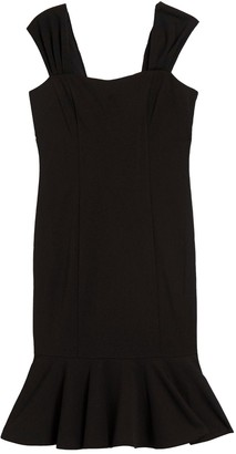 Marina Flounce Hem Sheath Dress