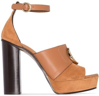 Chloé 120mm Platform Sandals