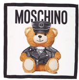 Moschino Women's 'Bear' Square Silk Scarf