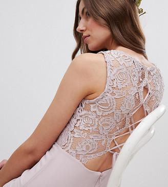 TFNC Tall Lace Up Back Midi Bridesmaid Dress