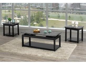 Canora Grey Rohrbaugh 3 Piece Coffee Table Set Color: Black