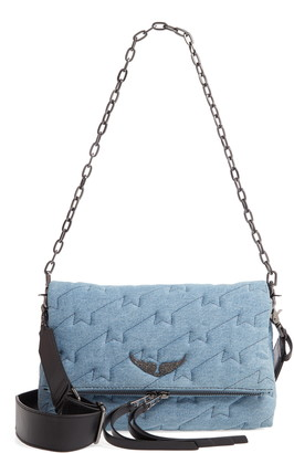 Zadig & Voltaire Rocky Quilted Denim Shoulder Bag