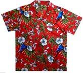 V.H.O Funky Hawaiian Shirt, Parrotcherry