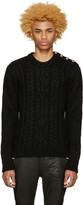 Balmain Black Mohair Sweater