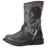 Frye Girl's Jenna Skull Short Boot - Black