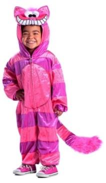 BuySeasons Big Girl's Cheshire Cat Jumpsuit Child Costume