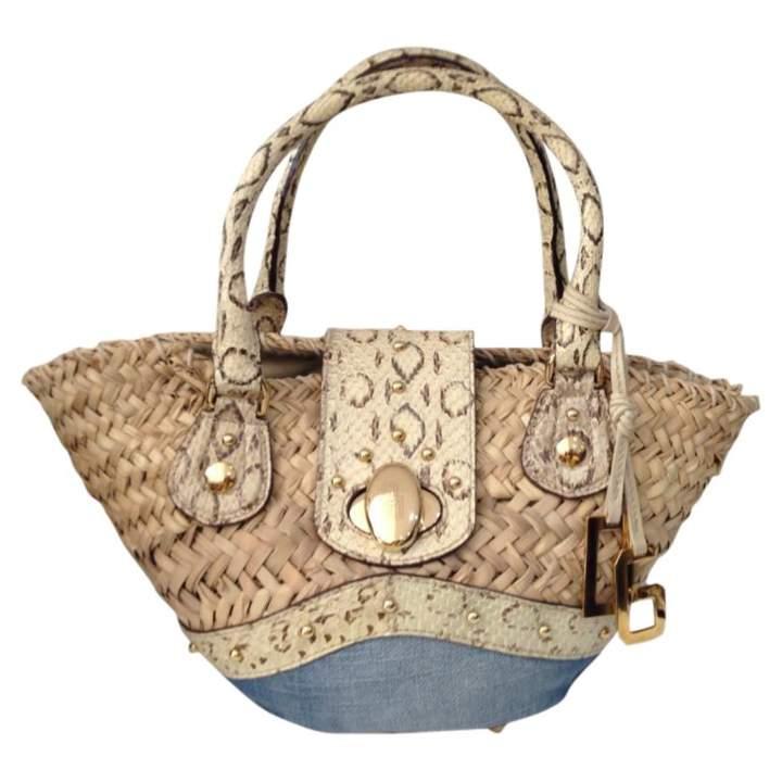 Dolce & Gabbana Beige Cotton Handbag