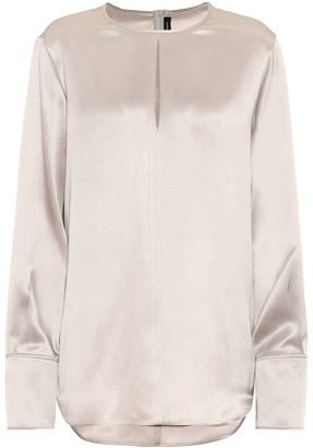 Joseph Ian silk-satin blouse
