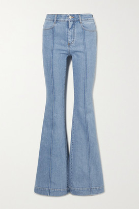 Stella McCartney Net Sustain The '70s High-rise Flared Jeans - Blue