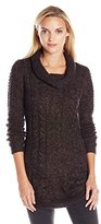 RD Style Women's Cowl-Neck Sweater with Twisted Yarn