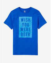 Express wish you were beer graphic t-shirt