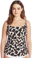 LaBlanca La Blanca Women's Plus-Size In The Shadows Lingerie Tankini with Tummy Toner