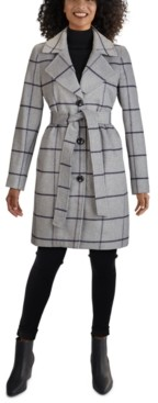 Jones New York Petite Single-Breasted Notch-Collar Coat